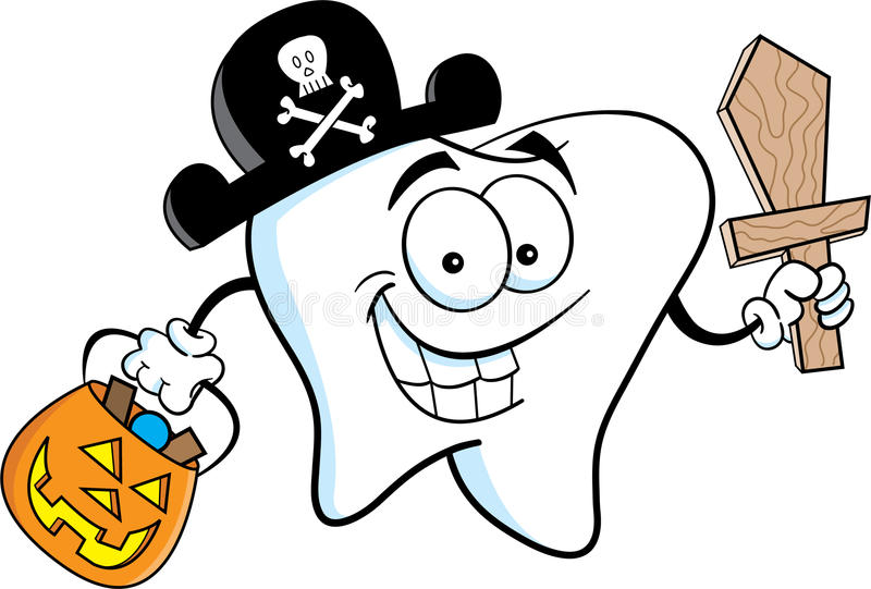Download Pirate Tooth stock vector. Image of treat, halloween - 25471502