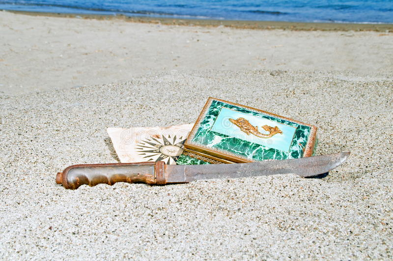 Download Pirate treasure stock image. Image of gold, space, beach - 19573707