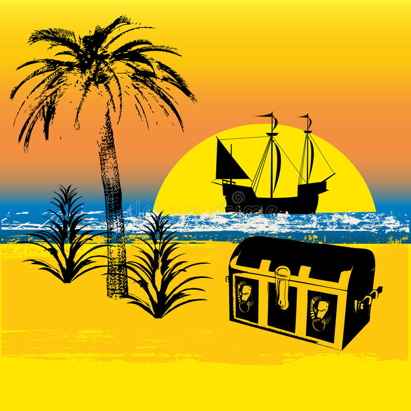 Download Pirate Treasure Background stock vector. Illustration of silhouette - 10476108
