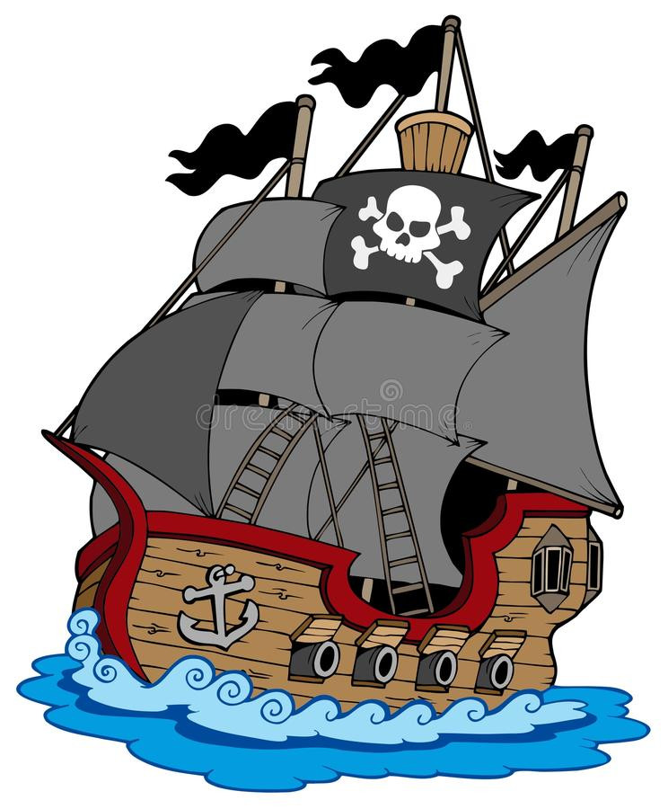 Download Pirate vessel stock vector. Image of cartoon, anchor - 14187112