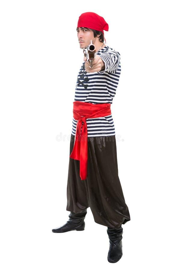 Pirate visant attirant photo stock