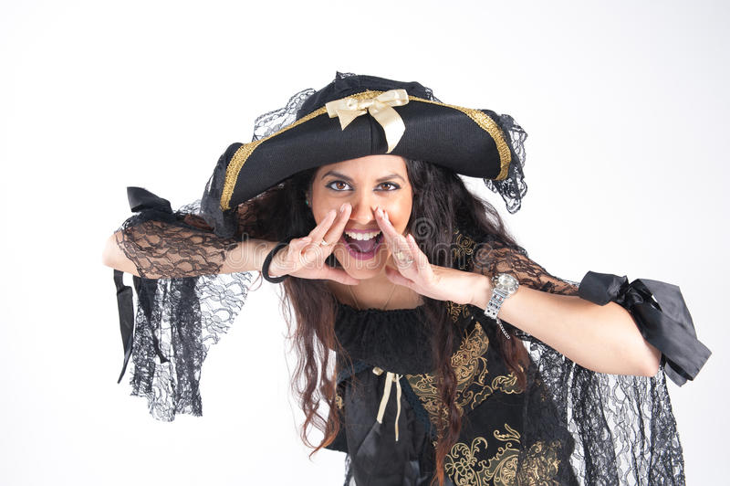 Pirate woman royalty free stock photos