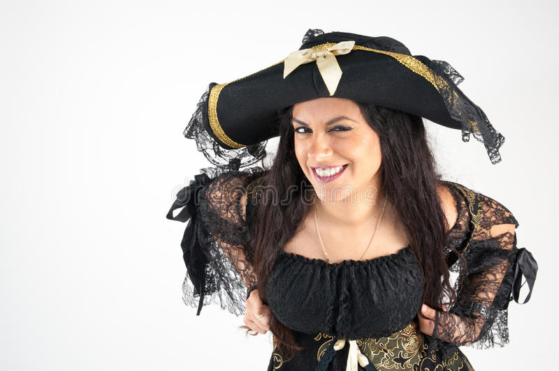 Pirate woman royalty free stock image