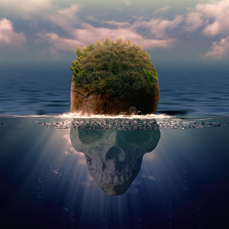 Piratea la isla fotografía de archivo