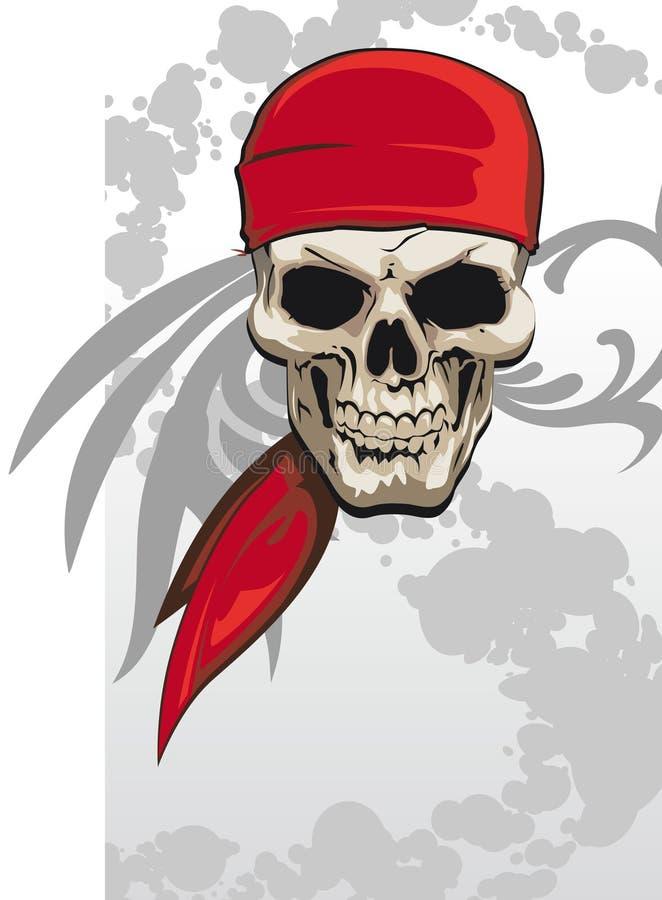 Pirateie o crânio ilustração stock