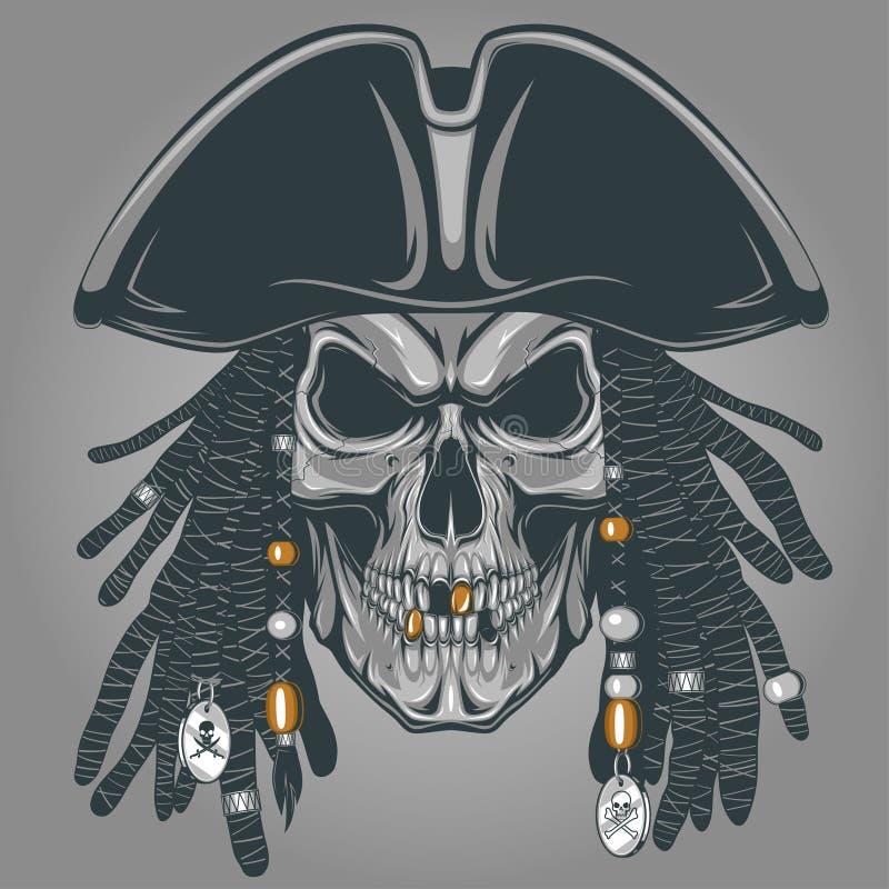 Pirateie o crânio ilustração do vetor
