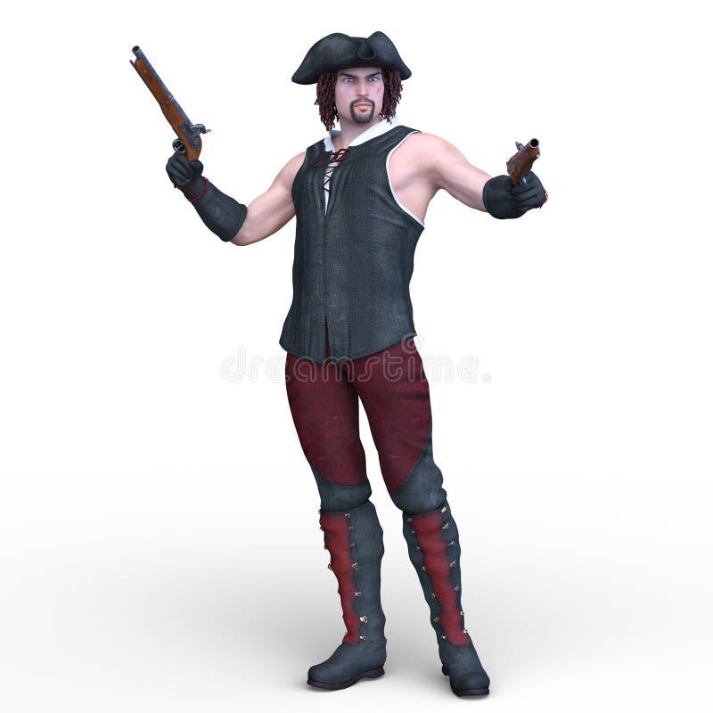 piraten vector illustratie