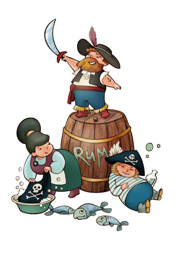Piraten! stock illustratie
