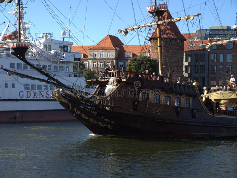 "Piraten in GdaÅ ""sk! royalty-vrije stock afbeeldingen"