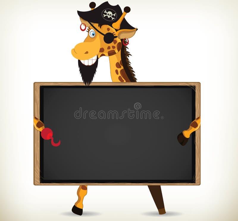 Piraten-Giraffe stock abbildung