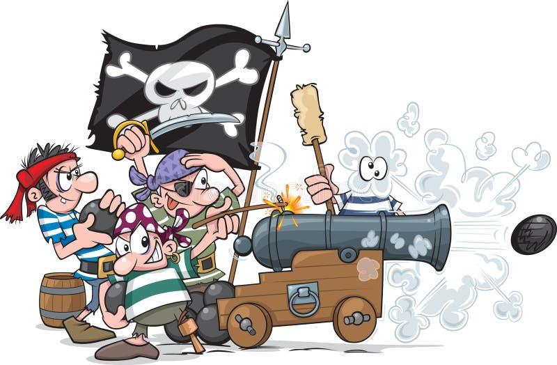 Piraten-Kampf vektor abbildung