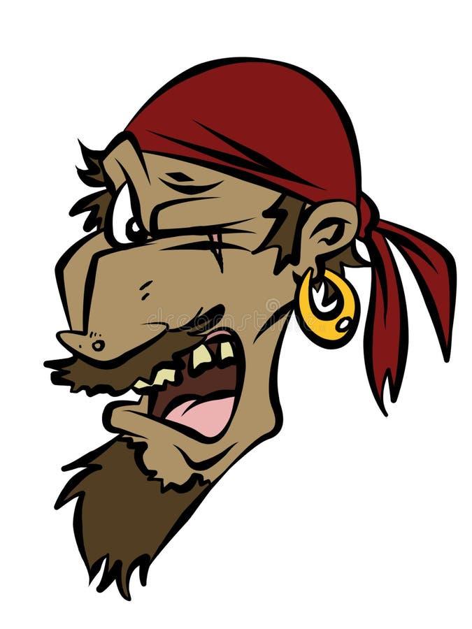 Piraten-Kopf vektor abbildung