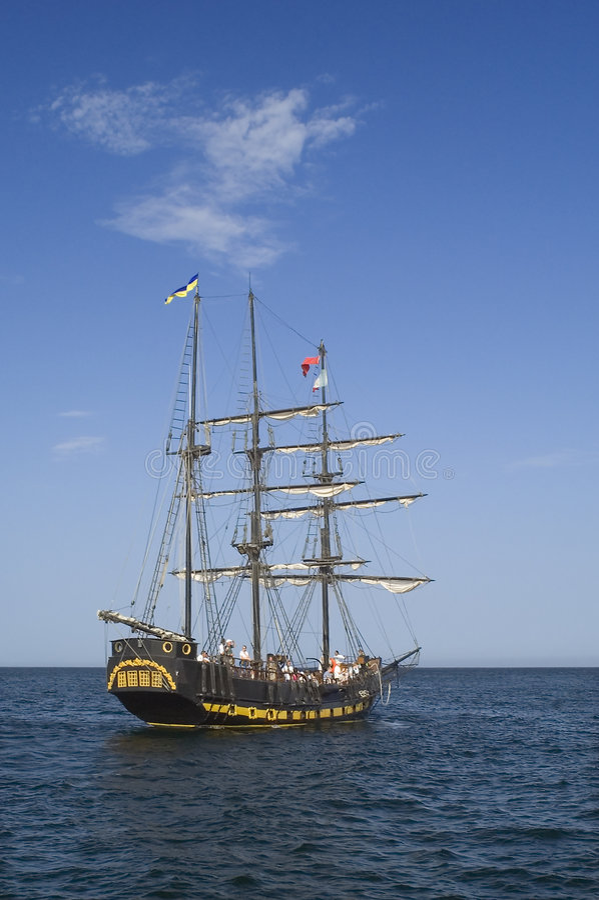 Piraten-Lieferungs-Exkursion stockfotos