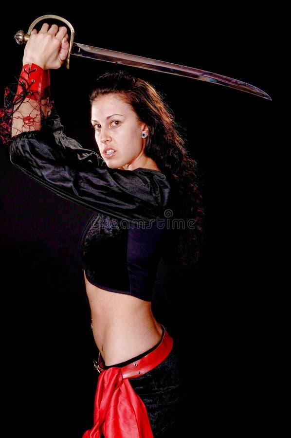 Piraten-Mädchen lizenzfreie stockbilder