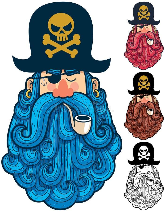 Piraten-Porträt 2 vektor abbildung