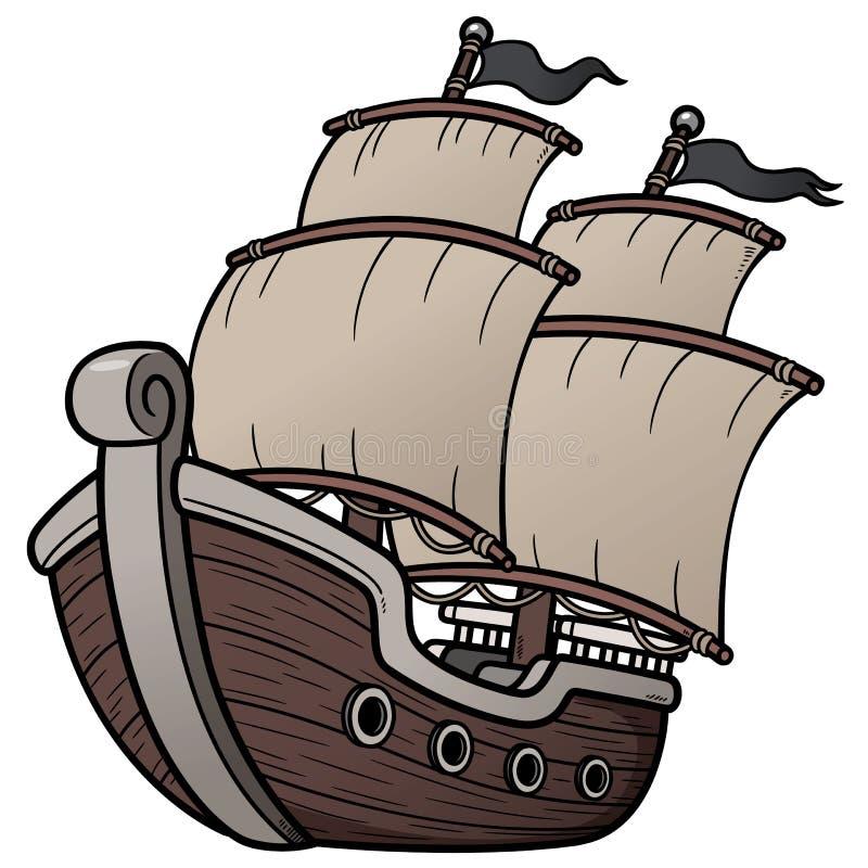 Piraten-Schiff lizenzfreie abbildung