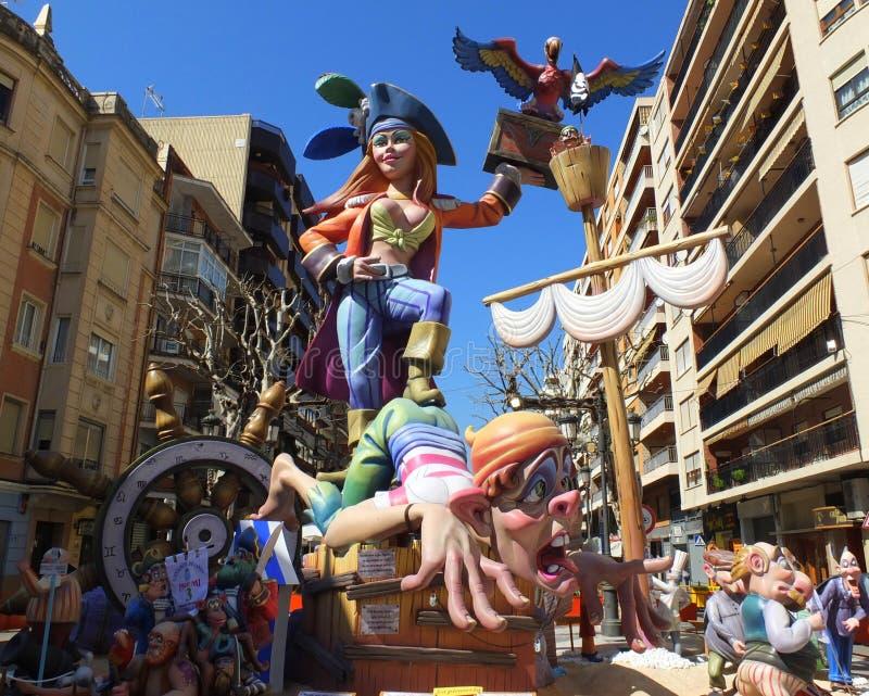 Piraten van Las Fallas royalty-vrije stock fotografie
