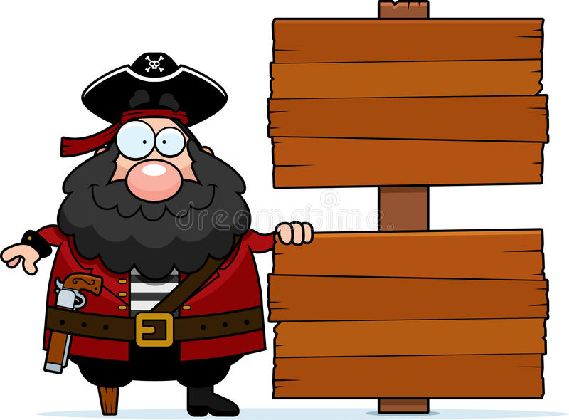 Piraten-Zeichen stock abbildung