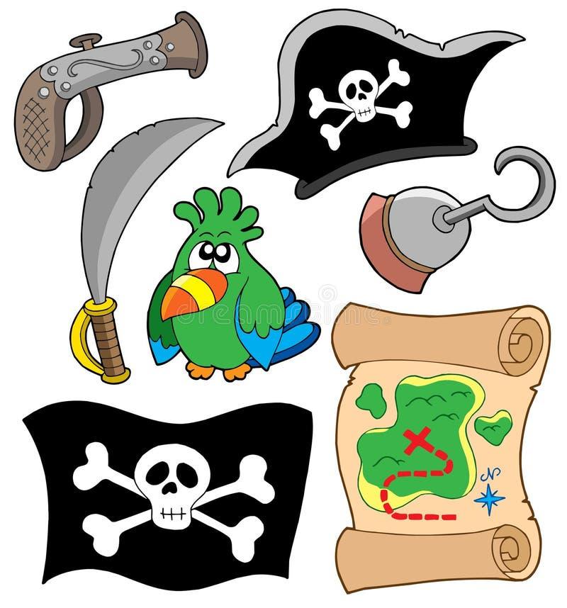 Piratenausrüstungsansammlung vektor abbildung