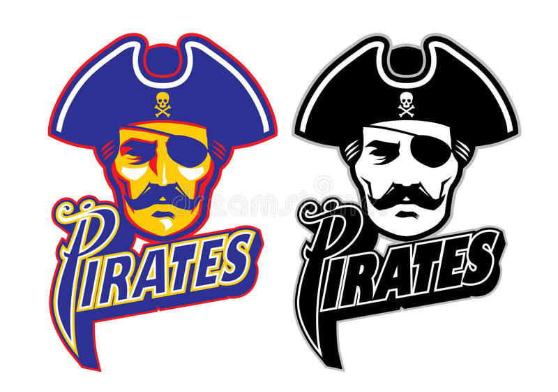 Piratenhauptmaskottchen stock abbildung