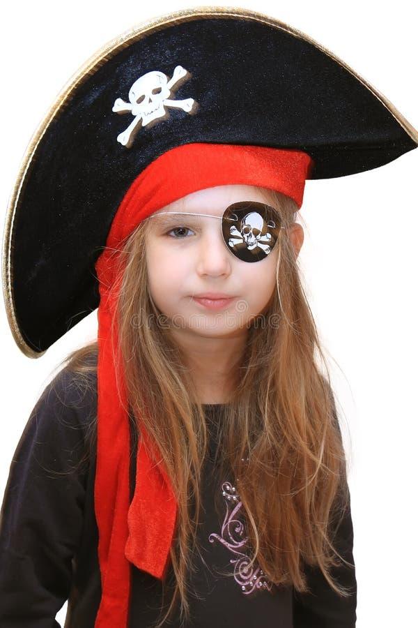 Piratenmädchen lizenzfreies stockbild