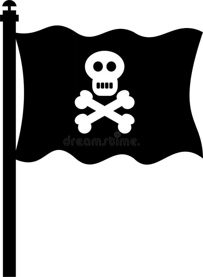 Piratenmarkierungsfahne vektor abbildung