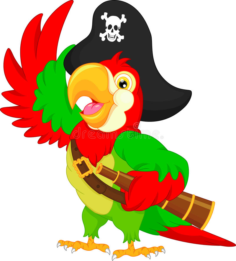 Piratenpapageienkarikatur vektor abbildung