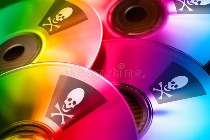 Piratería de Internet - abuso ilegal de la marca registrada foto de archivo