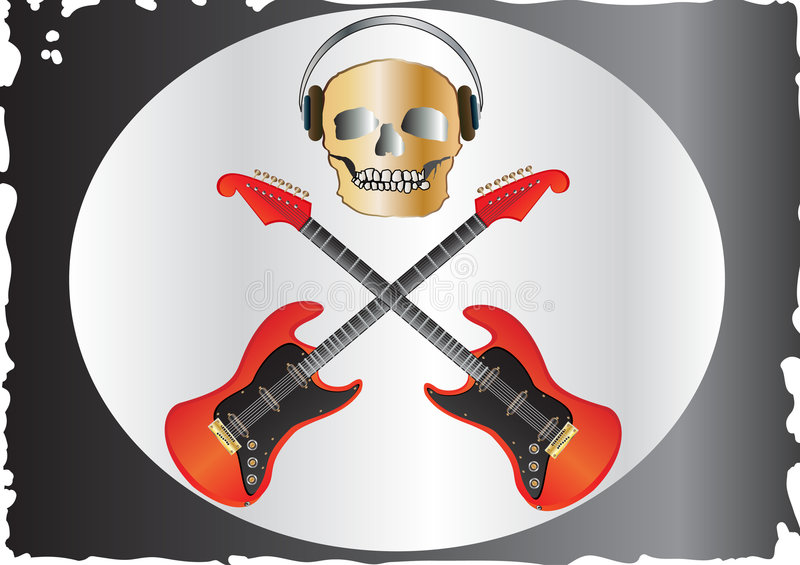 Piratería de la música stock de ilustración