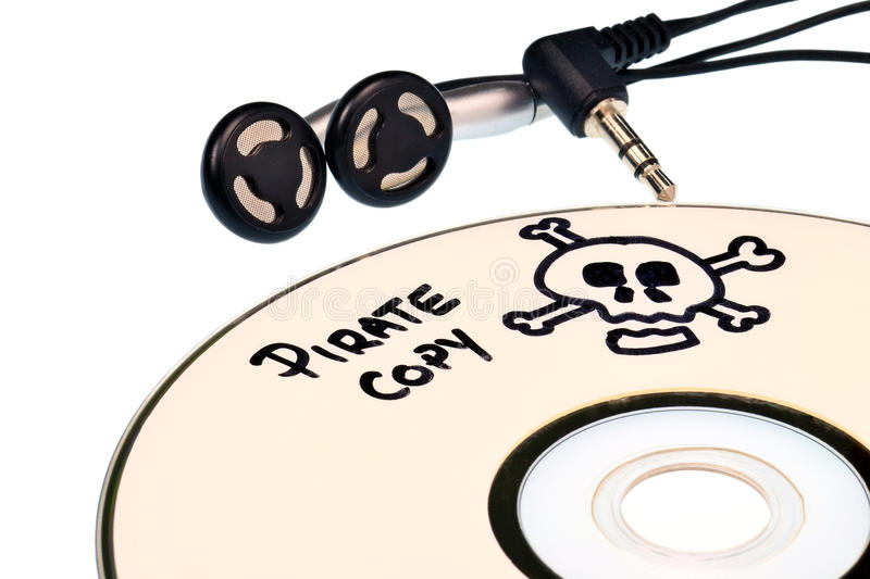Pirateria di musica immagine stock