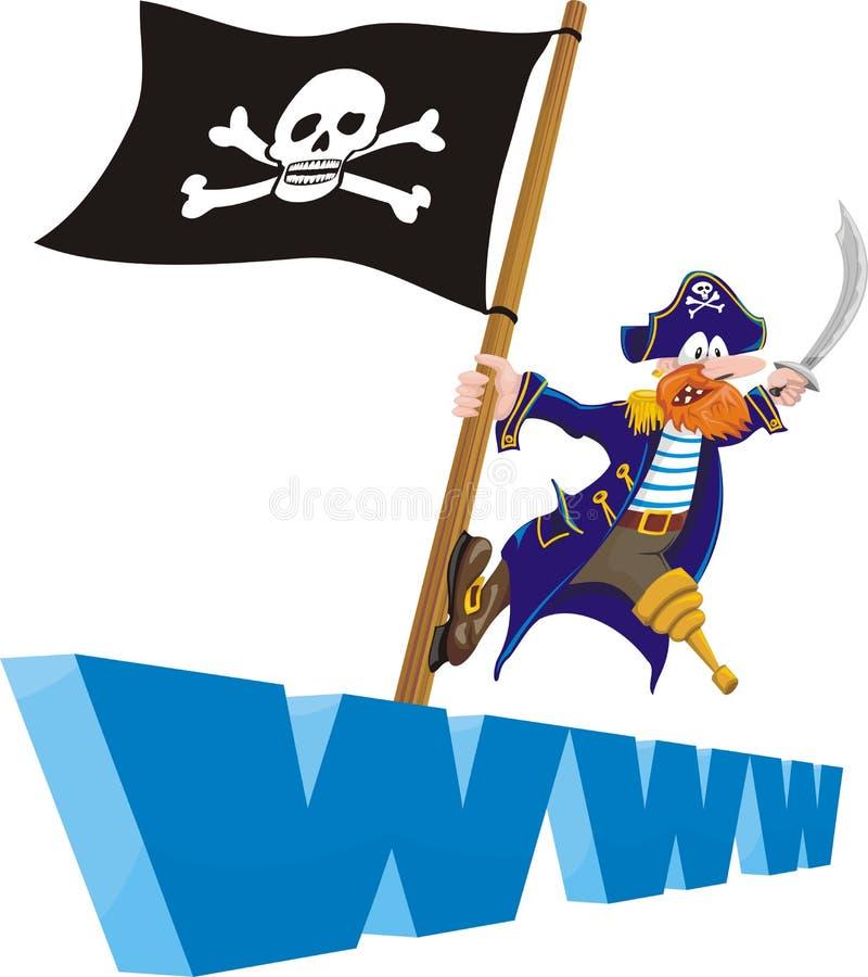 Pirateria - Web site royalty illustrazione gratis