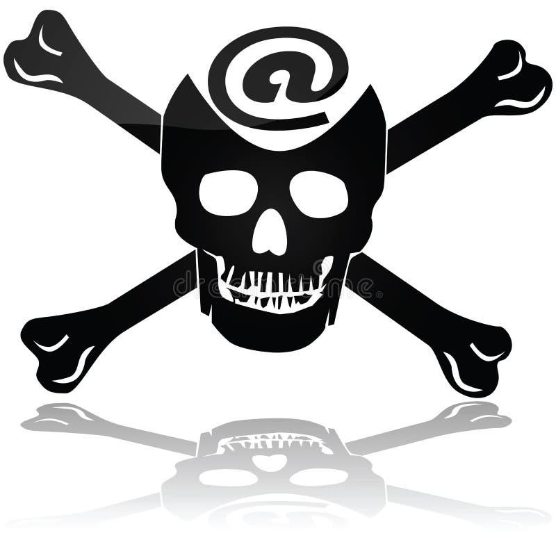 Piraterie de Web illustration de vecteur