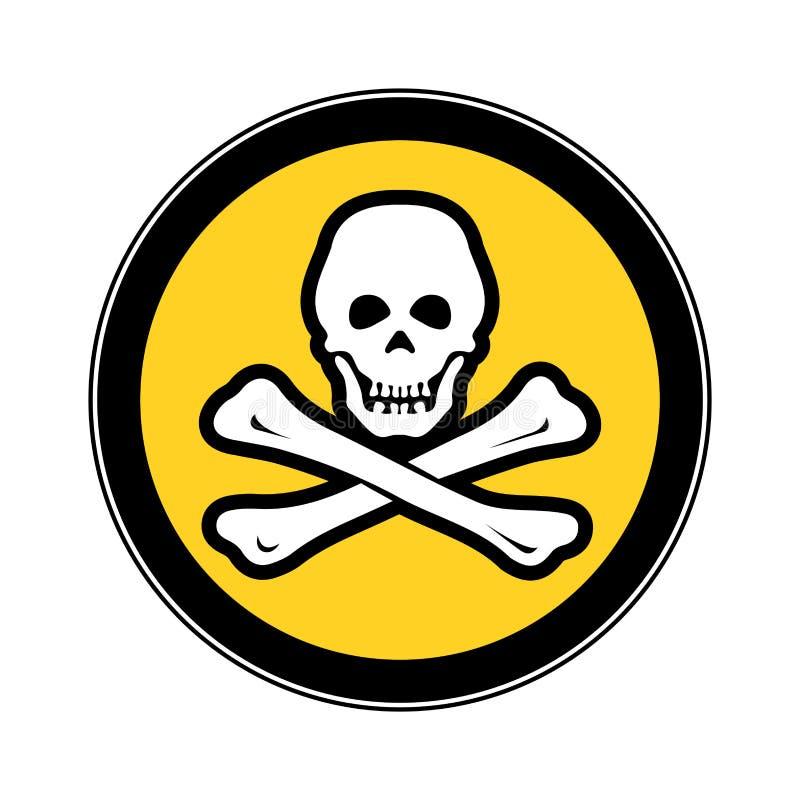 Piraterie le concept de la sécurité de cyber le panneau d'avertissement illustration de vecteur