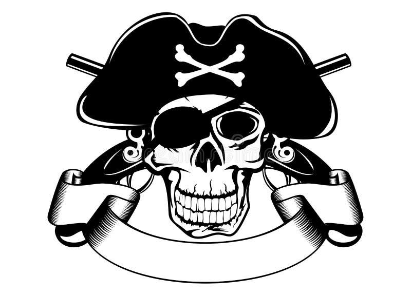 Piraterieschädel vektor abbildung