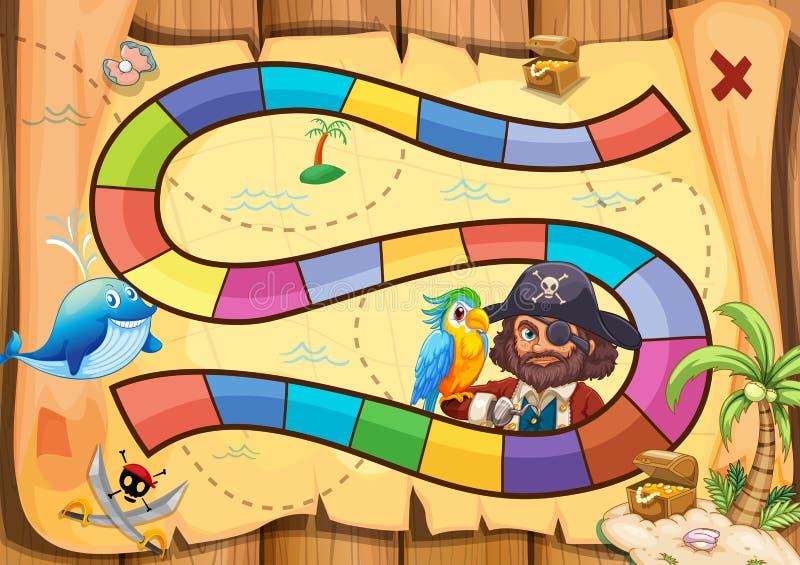 Pirates boardgame vector illustration