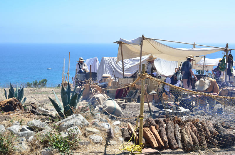 Download Pirates Campout editorial stock image. Image of california - 20278339