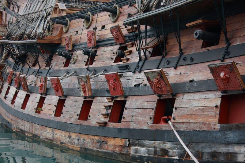 Pirates galleon stock photos