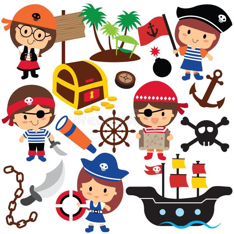 Free Pirates Kids Clip Art Stock Photos - 45330033