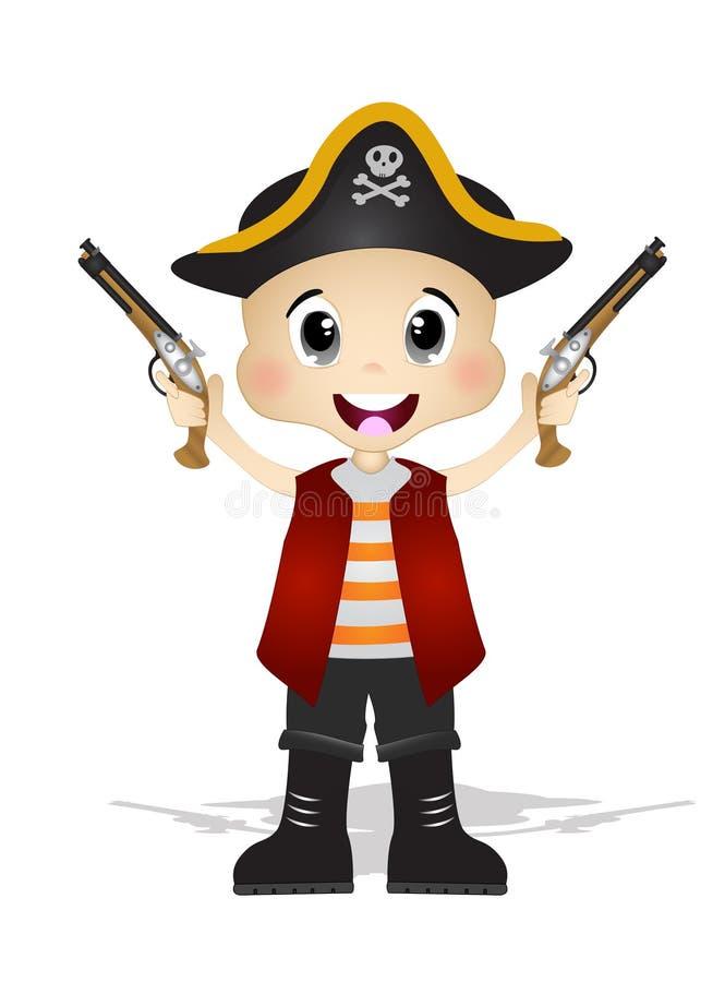 Pirates mignons illustration libre de droits