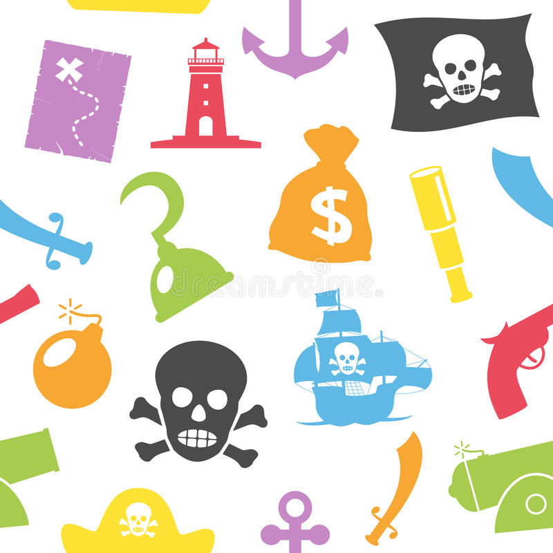 Download Pirates Seamless Pattern stock vector. Illustration of elements - 30686987