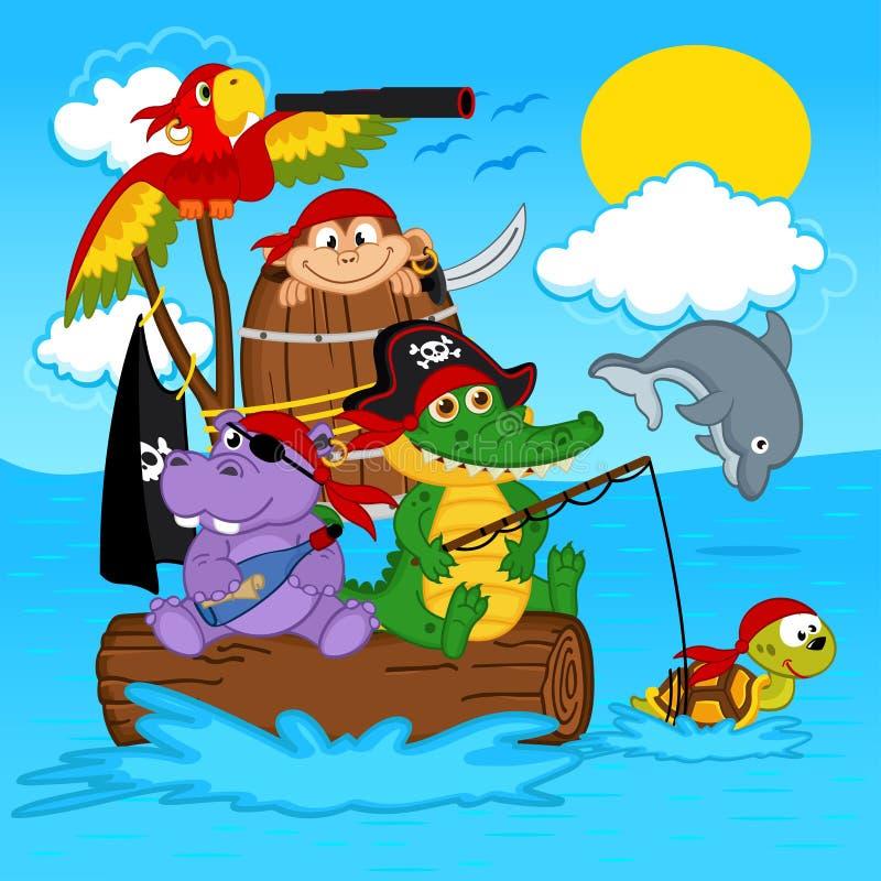 Pirati degli animali royalty illustrazione gratis