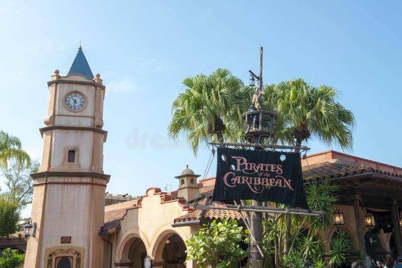 Pirati, Disney World, regno magico, viaggio, Florida immagine stock