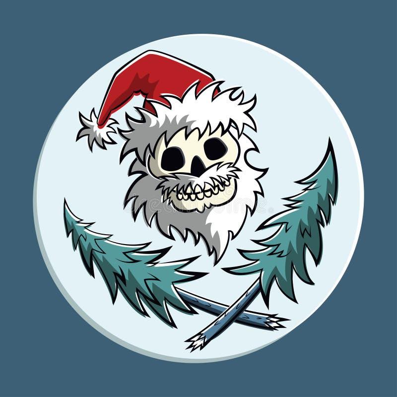 Piratic圣诞老人 向量例证