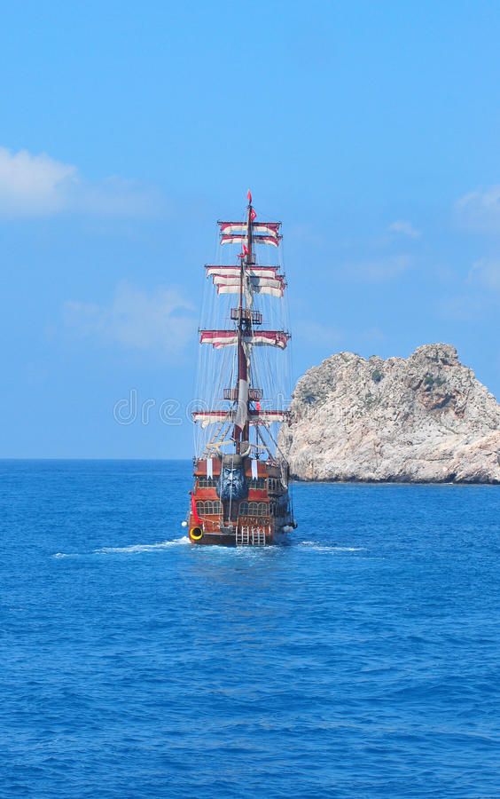 Download Piratical Ship Stock Photo - Image: 25179910
