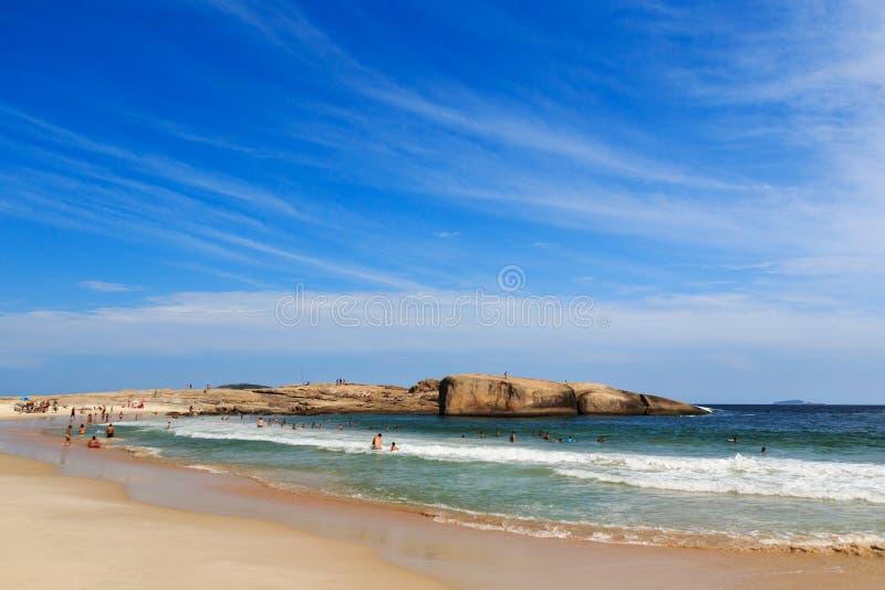 Piratininga beach sea blue sky Niteroi, Ro de Janeiro stock image