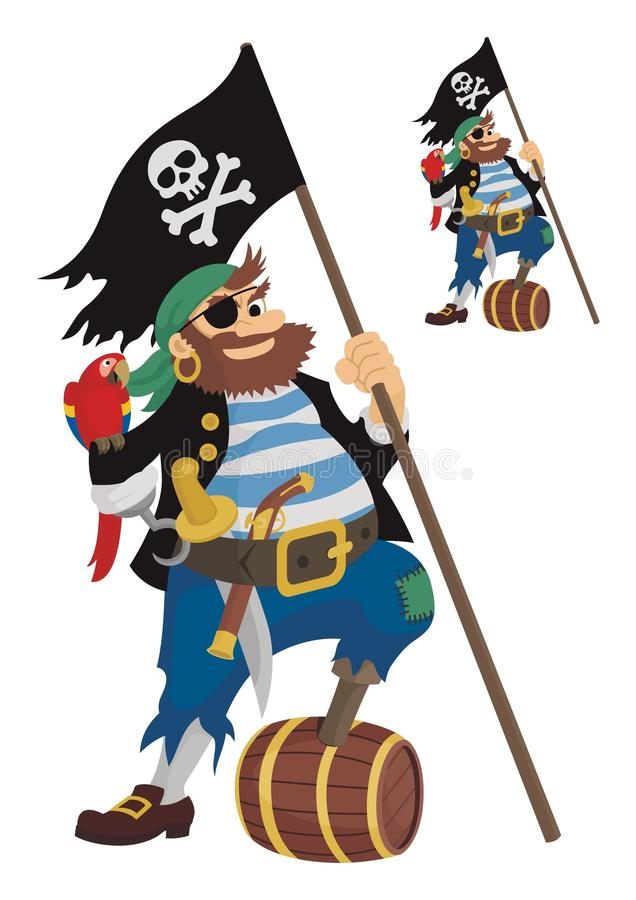 piratkopiera vektor illustrationer