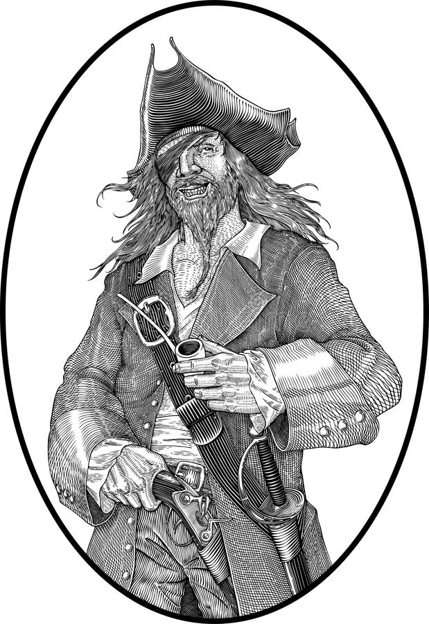 piratkopiera stock illustrationer