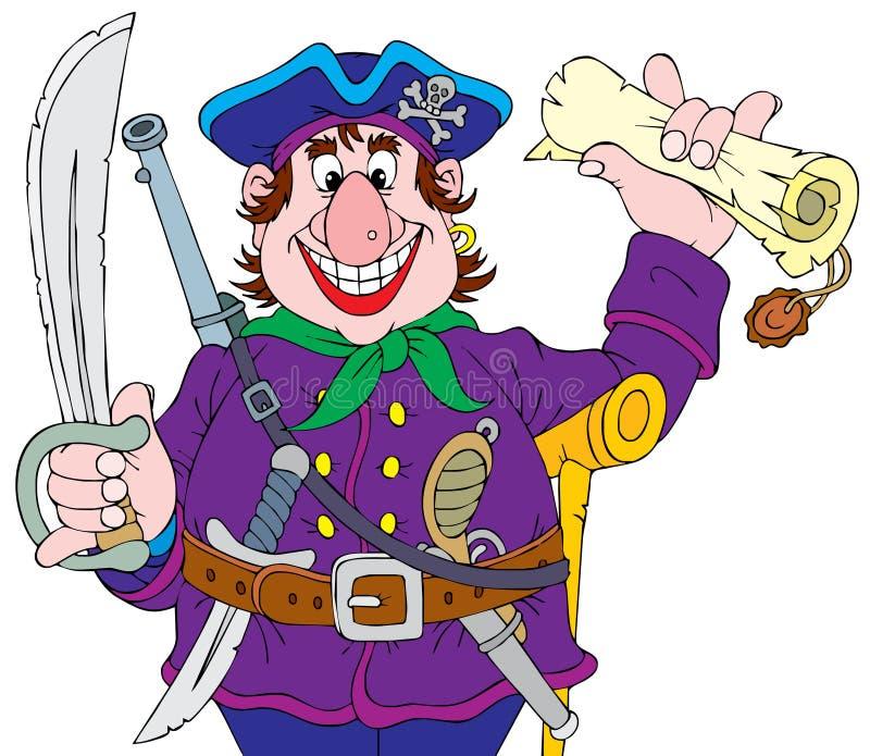 piratkopiera stock illustrationer