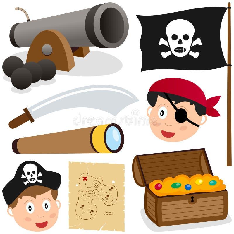Piratkopiera beståndsdelsamlingen royaltyfri illustrationer