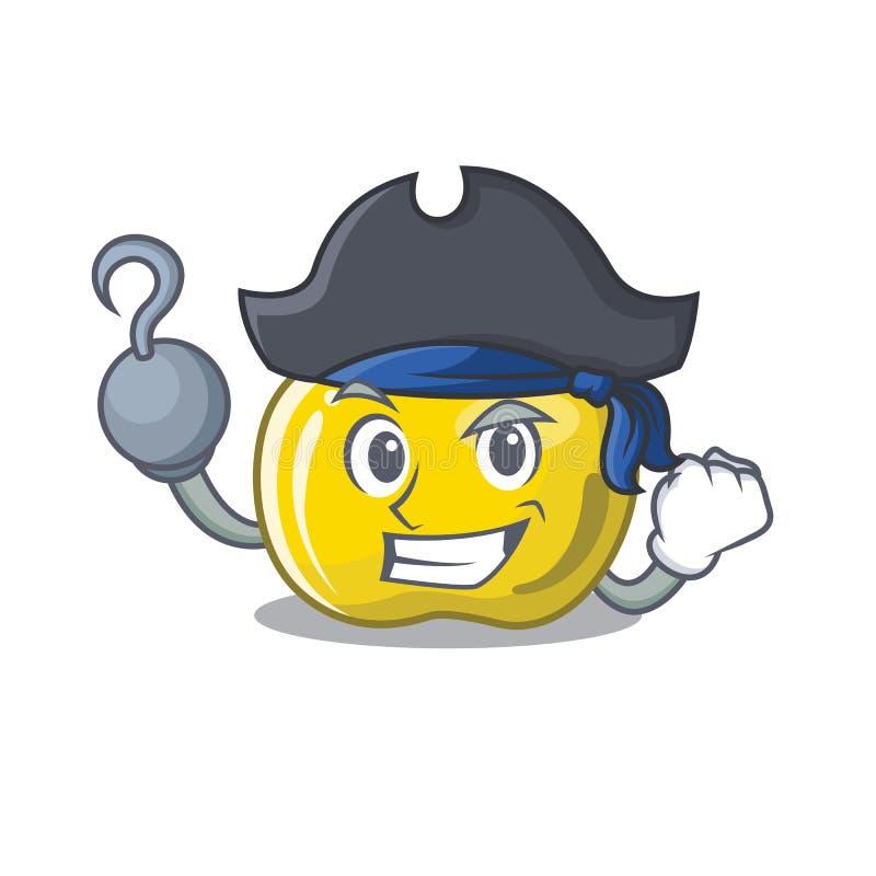 Piratkopiera det gula äpplet skivatecknad filmformen stock illustrationer